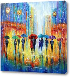 Картина Всё пахнет иначе, когда идет дождь