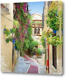Постер Цветущая улица Испании