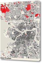 Картина Карта Санкт-Петербурга