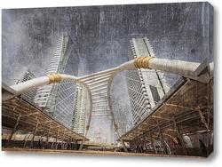 Постер Современные здания Бангкока