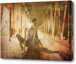 Постер Балерина. Сепия