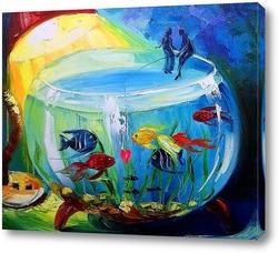 Картина Вдвоем на рыбалке