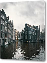 Постер Каналы Амстердама