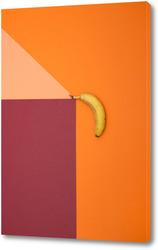 Геометрический натюрморт с бананом