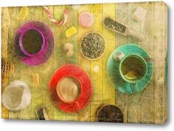 Постер Разноцветные кружки