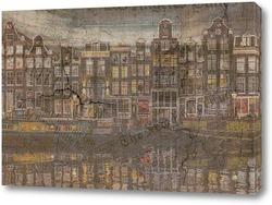 Постер Амстердам архитектура