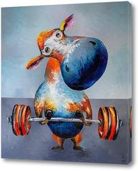 Картина Корова атлет.