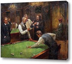 Постер Играющие в бильярд