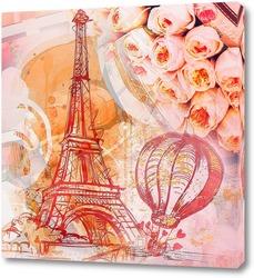Постер Париж винтаж