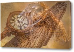 Постер Сова и часы