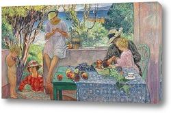 Картина Проба фруктов на террасе в Сент Максим