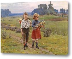 Картина Дети на пути домой