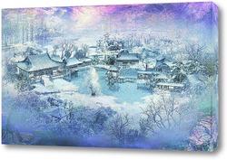 Постер Деревня. Зима
