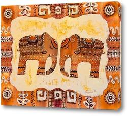 Постер Два слона