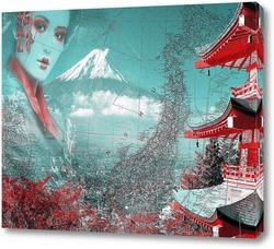 Постер Японская пагода