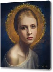 портрет с золотом