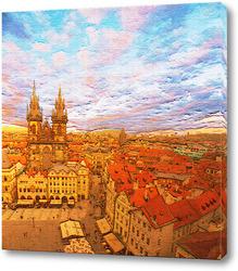 Картина Над крышами Праги