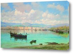 Картина Лодки у берега