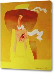 Картина Белый шарфик, лёгкий ветерок