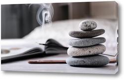 Постер Дзен-пирамидка для медитации и отдыха