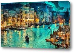 Картина Венеция. вечер