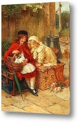 Картина Двое в корзине
