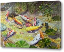 Картина Карпы Кои (Фэн Шуй)