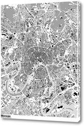 Картина Карта Москвы