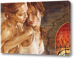 Картина Любовь у камина 2