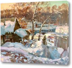 Картина Зима не отступает