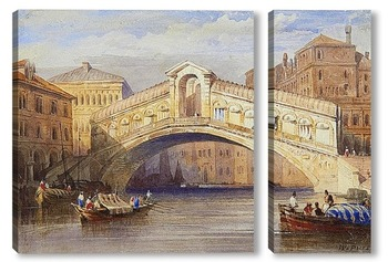 Модульная картина Мост Риальто, Венеция