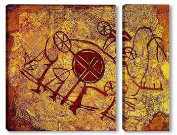 Модульная картина Колесница