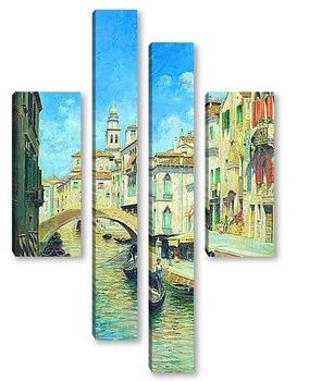 Модульная картина Венецианский гондольер