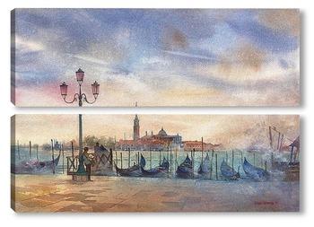 Модульная картина Вечер в Венеции