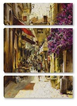 Модульная картина Солнечная улица Испании