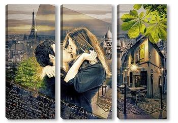 Модульная картина Париж. Лето