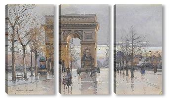 Модульная картина Париж.Триумфальная арка