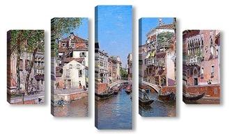 Модульная картина Рио Сан Тровасо, Венеция