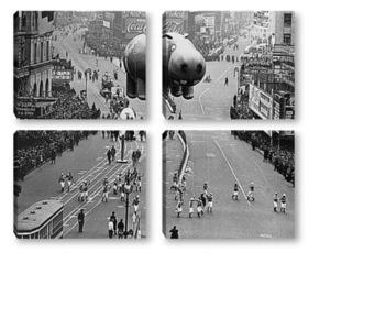 Модульная картина Парящий бегемот на параде в честь Дня Благодарения