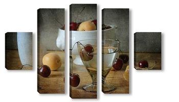 Модульная картина Пьяная вишня