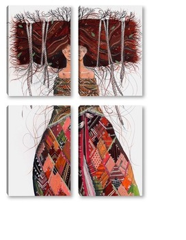Модульная картина Рябинка