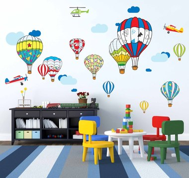 Наклейка воздушные шары