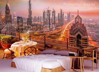 Фотообои Завораживающий вид Дубаи