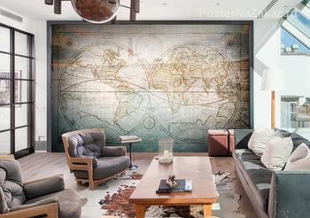 Фотообои Карта Земли