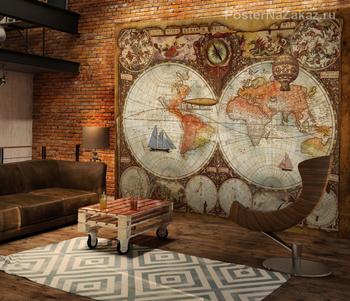 Фотообои Старинная карта