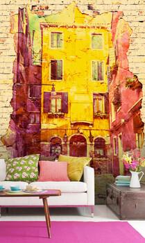 Фотообои Разноцветное здание