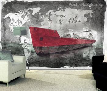 Фотообои Грузовое судно