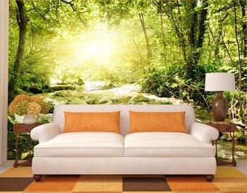 Фотообои Солнце в лесу